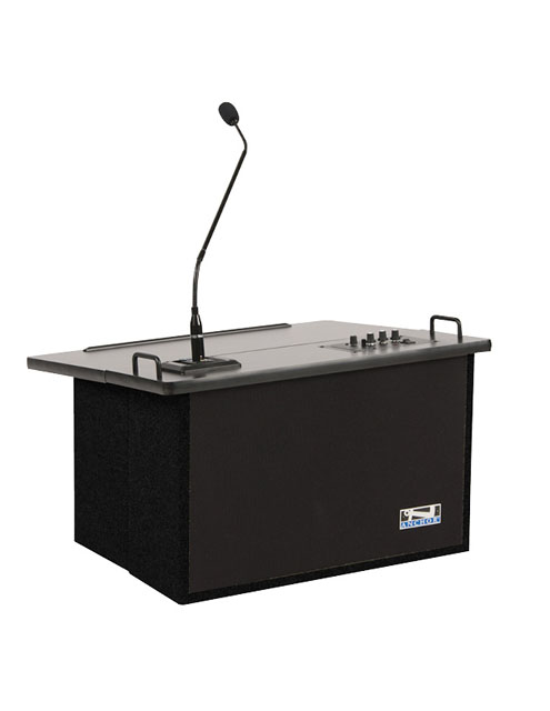 Anchor Audio ACL-8000U2BK Acclaim Lectern with Two Wireless Receivers - Black