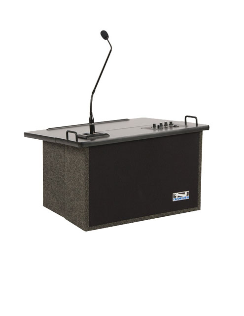 Anchor Audio ACL-8000U2 Acclaim Lectern with Two Wireless Receivers - Gray