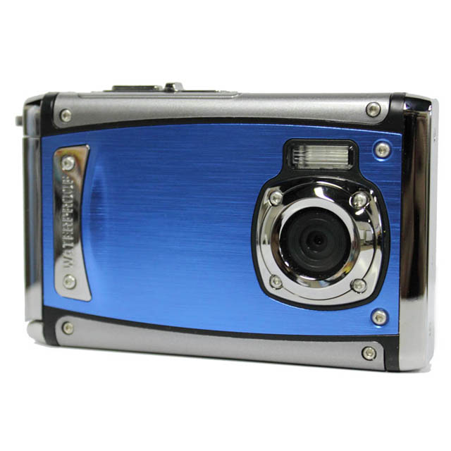 Waterproof 9MP Digital Camera with Flash and 2.4