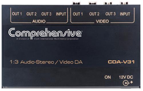 1x3 Composite Video/Stereo Audio DA