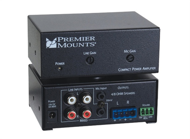 Premier Mounts CPA-50 50W Compact Power Amplifier