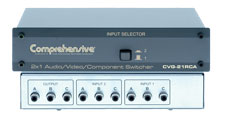 2X1 High Resolution Audio / Video / Component Switcher