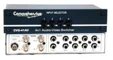 4x1 Composite Video & Audio Passive Switcher
