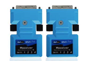 Fiber Optic Modules for Extending DVI Signalsup to 1,640 ft