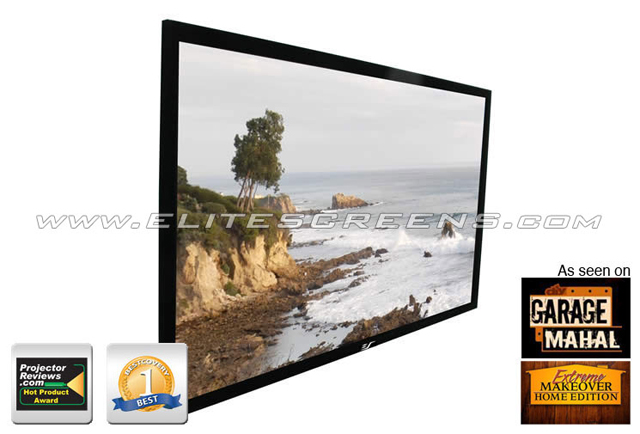 Elite ezFrame AcousticPro1080P2 Series 150in. Fixed Frame Screen