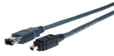 Standard Series IEEE 1394 Firewire 6 pin plug to 4 pin plug cable 3ft
