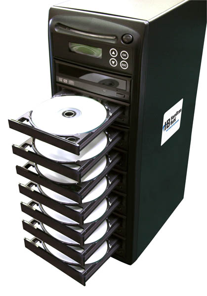 Hamilton HB127 1 Reader to 7 Writer DVD/CD Duplicator