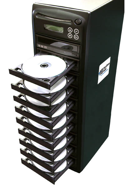 Hamilton HB129 1 Reader to 9 Writer DVD/CD Duplicator