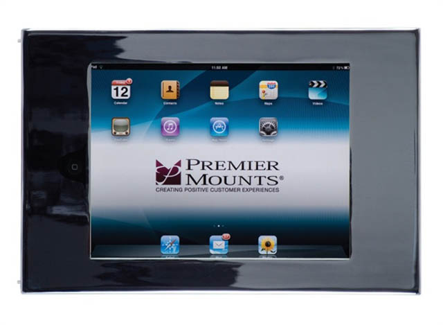 Premier Mounts IPM-710 Secure iPad™ Mounting Frame with Access to Home Button