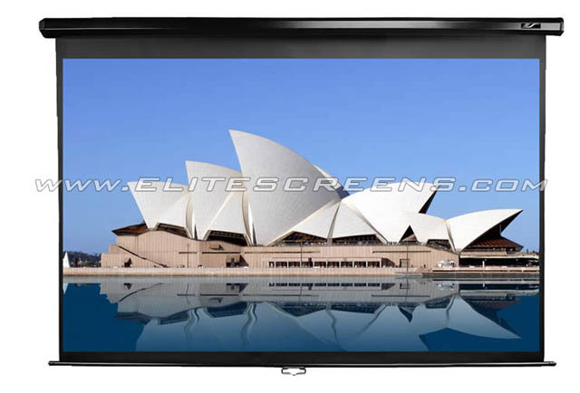 Elite M80UWH 80in. Manual Screen, MaxWhite (16:9)