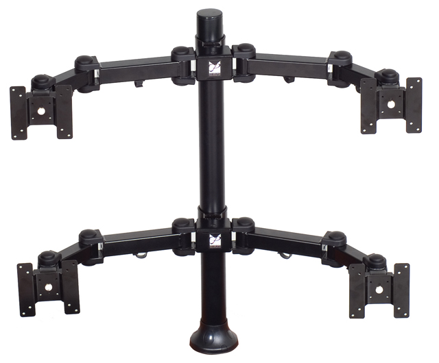 Premier Mounts MM-AH284 2 Dual Display Arms on 28in. Tube with Grommet Base