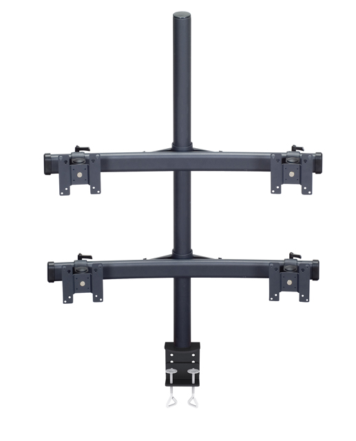 Premier Mounts MM-BC284 Monitor Curved Bow on 28in. Tube with Clamp Base