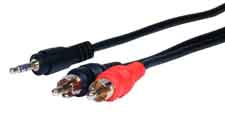 Comprehensive MPS-2PP-25ST Standard 3.5mm to 2 RCA M-M Audio Cable 25ft