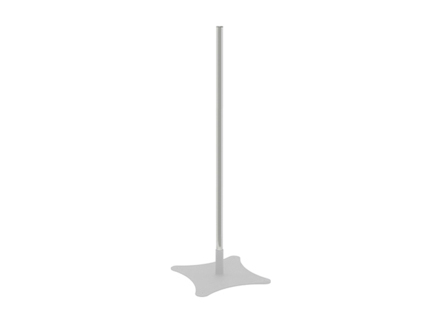Premier Mounts P84 84 in. Single Replacement Chrome Pole