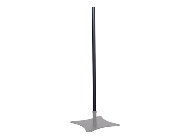 Premier Mounts P84B 84 in. Single Replacement Black Pole