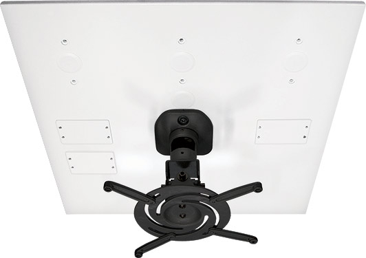 AV Mounts AVMPROUNVDCP404BK Black Universal Drop-In Projector Ceiling Mount