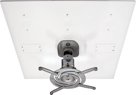 AV Mounts AVMPROUNVDCP404SV Silver Universal Drop-In Projector Ceiling Mount