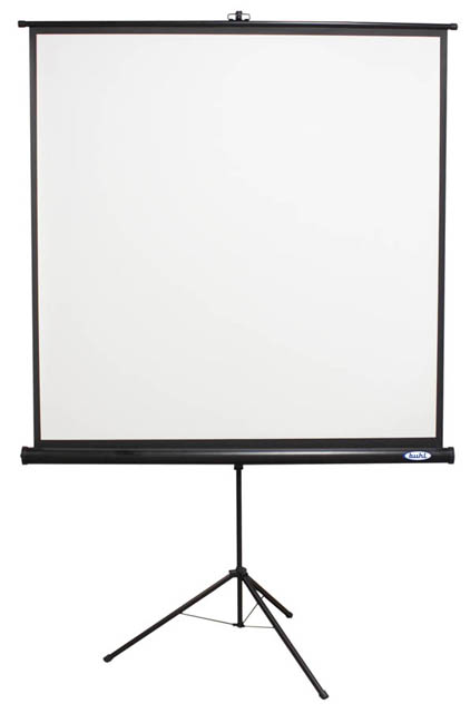 Buhl Industries 70x70in. Square Projector Screen w/ Black Housing