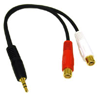 C2G 40422 3.5mm Stereo Male to (R/W) RCA Jack Y-Cable