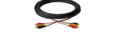 Kramer CP-3RVAM/3RVAM-25 25ft 3 RCA (M-M) Composite Video/Audio Plenum Cable