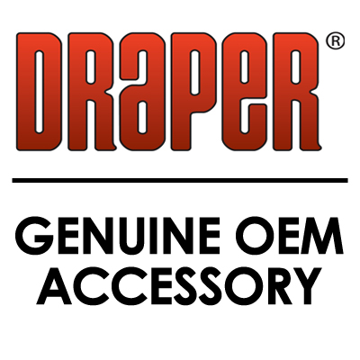 Draper Stage DrapeBar Replacement Arm Lower Portion (1.5 x 27.5in., Black)