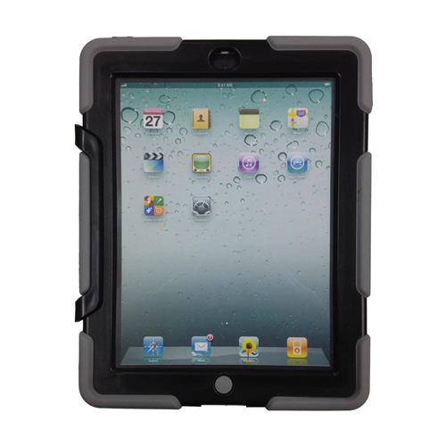 Dukane Heavy Duty iPad (2/3/4) Case 185-3 [BLACK/GREY]