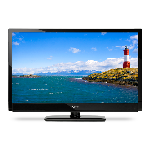 55-inch LED-Backlit, Commercial-Grade Large-Screen Display with Integrated Tuner
