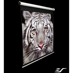 Elite 84in. Manual Series Projector Screen 41x73in w/ 30in. Drop & White Case