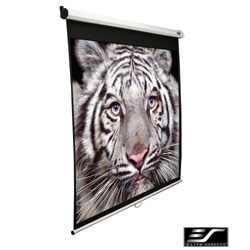 Elite 136in. Manual Series Projection Screen (96 x 96in.) (MaxWhite) 1:1