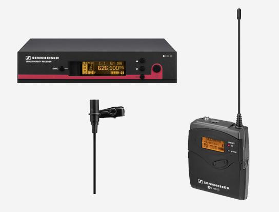 Professional Wireless Omni-directional Microphone System, 566-608MHz RF Range