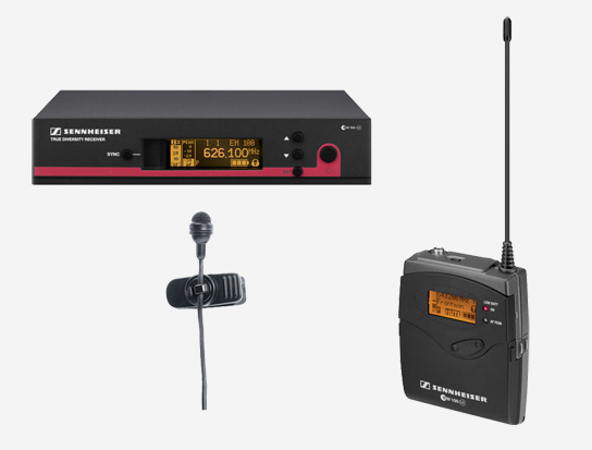 Lavalier Wireless Cilp-on Microphone System, 626 to 668MHz RF Frequency Range