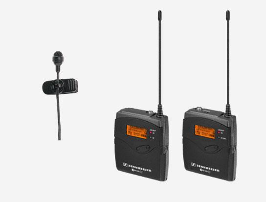 Electret Condenser Wireless Lavalier Clip-on Mic System, 626-668MHz RF Range