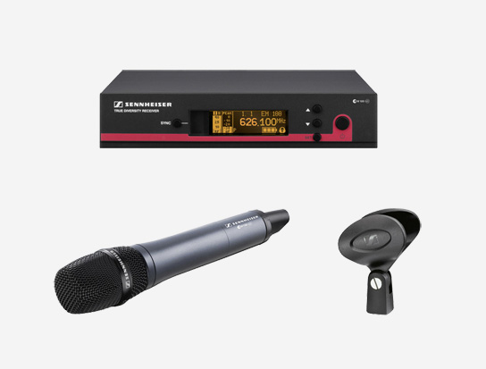 Dynamic Handheld Microphone System, 516 to 558MHz RF Frequency Range