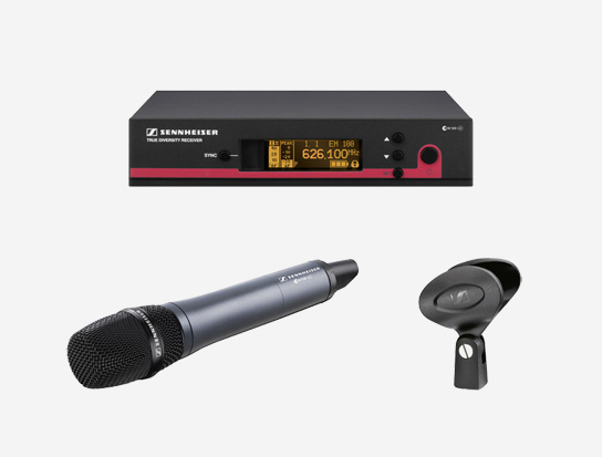 Handheld Wireless Microphone System, 566 to 608MHz RF Frequency Range