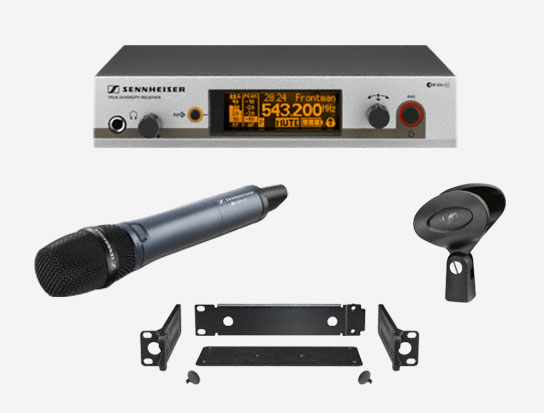 Wireless Dynamic Microphone System, Super-cardioid, 516-558MHz RF Range