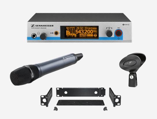 Sennheiser Wireless Handheld Super Cardioid Microphone System, G3-A Band