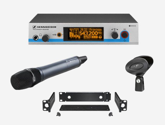 Sennheiser Wireless Handheld Switchable Cardioid Microphone System, G3-A Band
