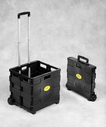 Buhl Portable Crate with Extendable Handle