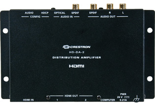 Crestron 1-to-2 HDMI Distribution Amplifier & Audio Converter