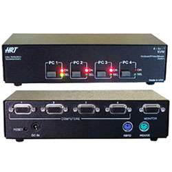 HRT 4 Channel KVM Server Switch