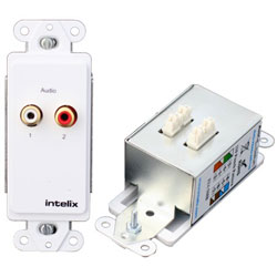 Intelix AVO-A2-WP110 Stereo Audio Wallplate Balun