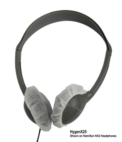 Hamilton HygenX25 HygenX Headphone Covers for On-Ear Headsets - 50 Pair