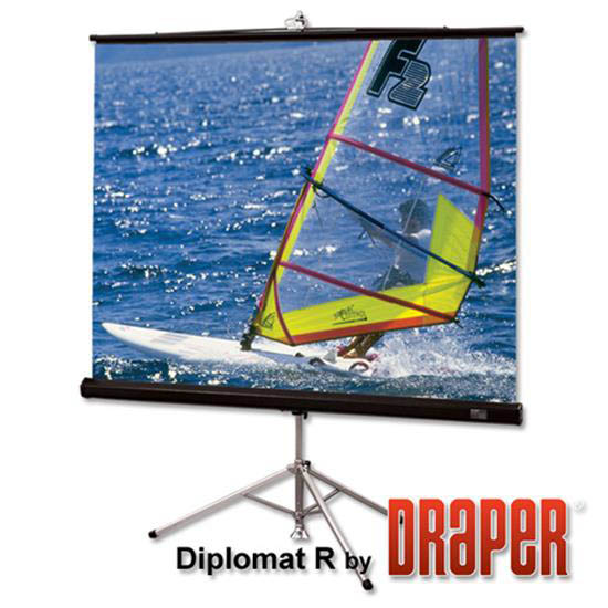 Draper 215012 Diplomat/R Portable Projection Screen60in x 60in