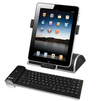 Hamilton iPad Speaker Dock and Bluetooth Keyboard with Stand for iPad and iPad2