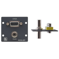 Wall Plate Insert - 15-pin HD & 3.5mm Stereo Audio
