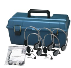 Lab Pack, 12 HA2 Personal Headphones in Carry Case