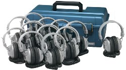 Hamilton LCP/12/SC7V Lab Pack, 12 SC7V Headphones in Carry Case
