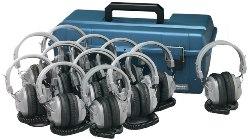 Hamilton LCP/12/SC7V Lab Pack, 12 SC7V Headphones in Carry Case