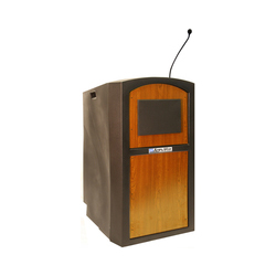 AmpliVox Sound Systems Pinnacle Lectern with Wireless Sound (Maple)