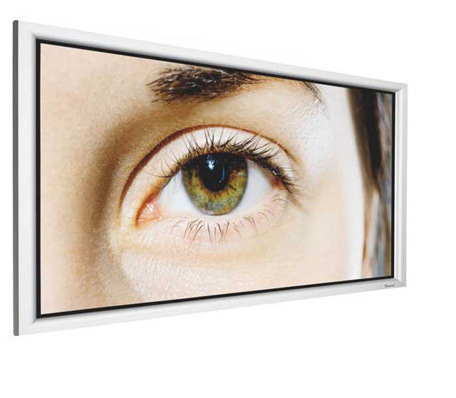 DNP Supernova One 100in. 2.3 gain 16:10 Fixed Frame Screen - Silver Aluminum